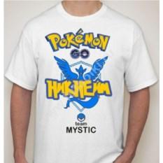Мужская футболка с вашим никнеймом Покемон го team mystic