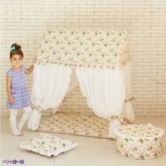 Текстильный домик-палатка с пуфиком Дворец Шахерезады