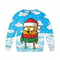 Детский свитшот 3D Джейк в свитере