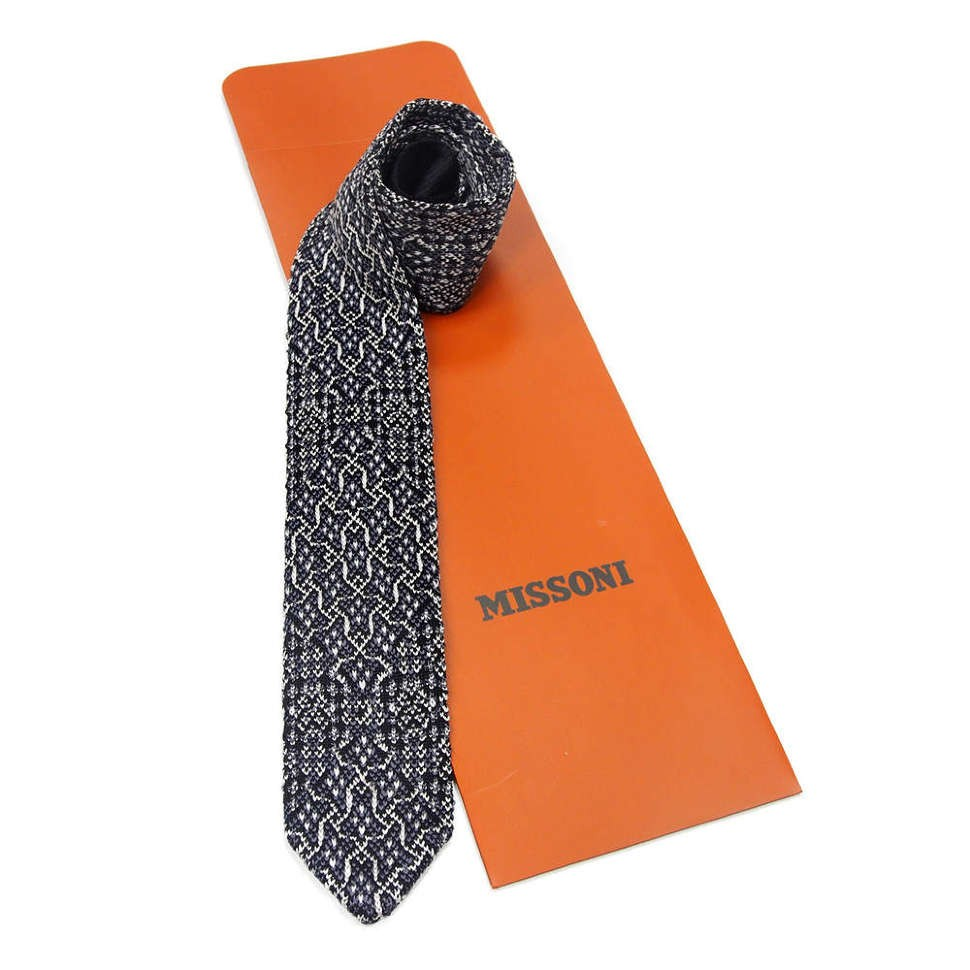 Двухсторонний вязаный галстук Missoni