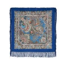 Павлопосадский шерстяной платок У синего моря
