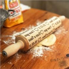 Именная деревянная скалка Орудие для неё
