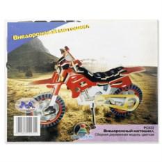 Цветная деревянная модель для сборки «Внедорожный мотоцикл»