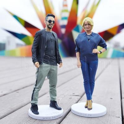 Парная 3D фигурка - точная мини копия