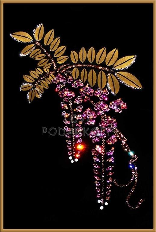 Картина из кристаллов Флер де роз