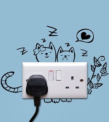 Виниловая наклейка Sleeping Kitty