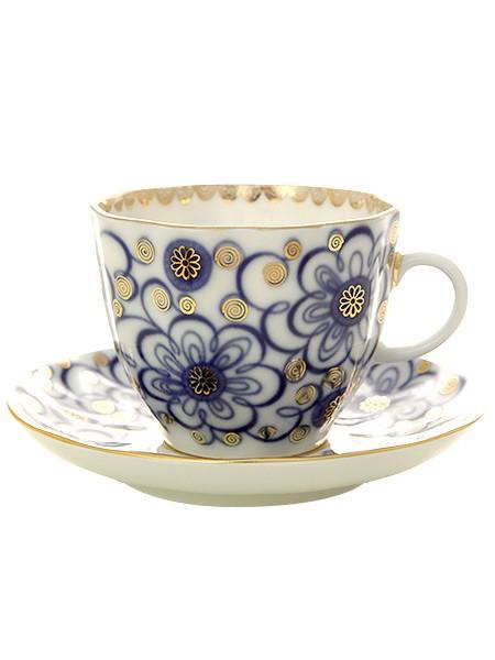 Кофейная чашка с блюдцем Вьюнок