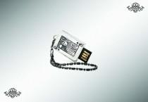 Серебряная флеш-карта «Дама», 32Gb