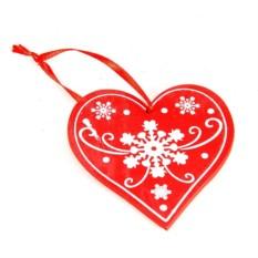Елочная игрушка Сердце
