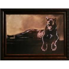 Картина с кристаллами Сваровски Грация пантеры