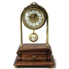 Настольные часы с маятником и ящичком для мелочей