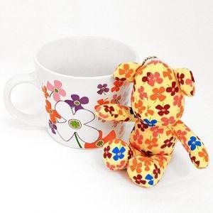 Подарочный набор Flowers: кружка + игрушка