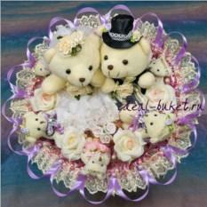Букет из игрушек Изящная свадьба