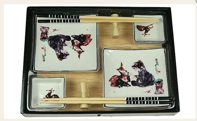 Набор для суши на 2 персоны Рисунок с оленем