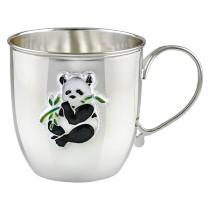 Серебряная кружка Панда, с эмалью