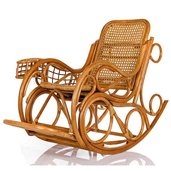 Кресло-качалка из ротанга Novo люкс