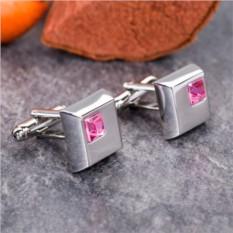 Запонки «Розовые кристаллы»