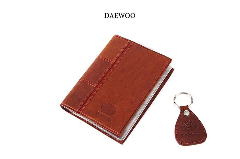 Обложка для водительского удостоверения с брелком DAEWOO