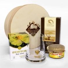Подарочный набор с бокалом-неваляшкой Сибирский