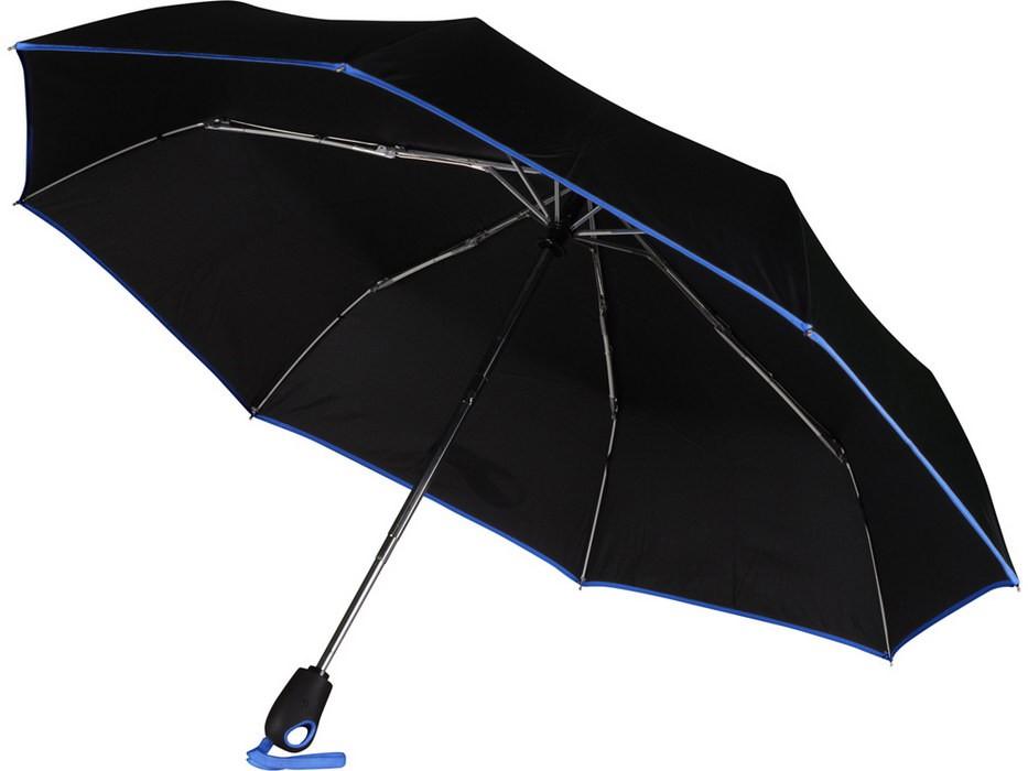 Складной автоматический зонт, с синей окантовкой
