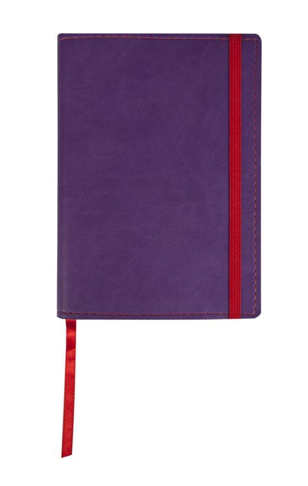 Фиолетовый блокнот Vivid Colors в мягкой обложке
