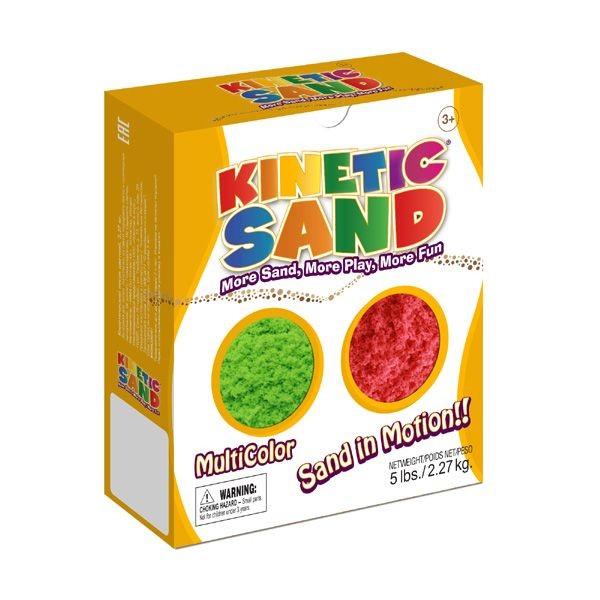 Цветной кинетический песок Kinetic Sand (зеленый, красный)