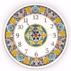 Настенные круглые часы из керамики