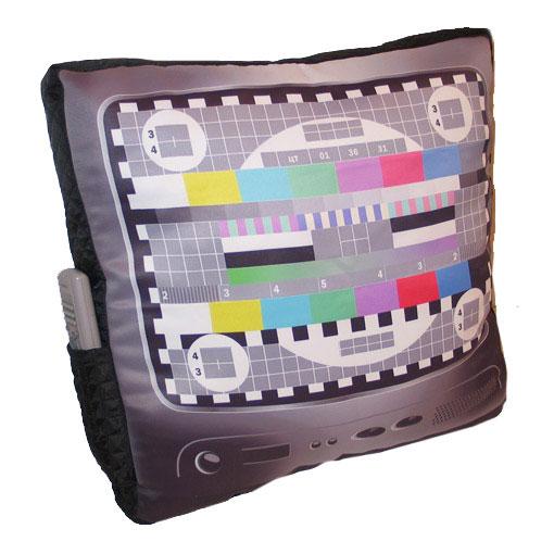 Подушка телевизор с карманом для пульта