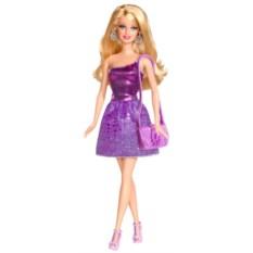 Кукла Барби Блестящая Студия (сиреневое платье)