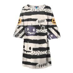 Детское полосатое 3D платье Хэллуин