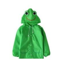 Детский зеленый плащ-дождевик Лягушонок