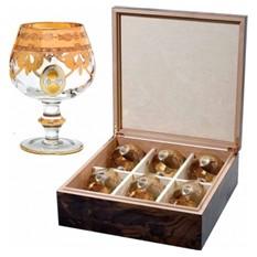 Набор бокалов для коньяка Gold Line