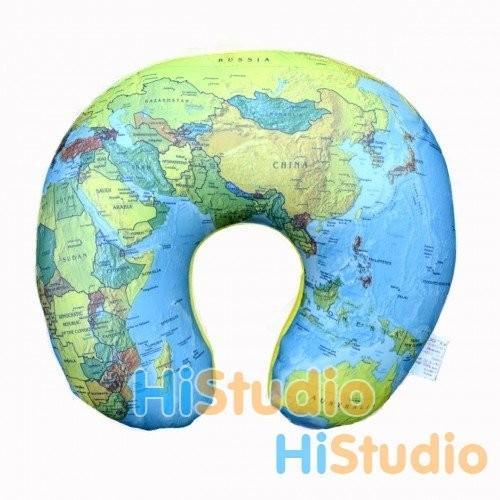 Подушка под шею Карта мира