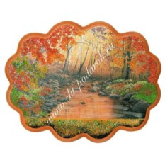 Панно с каменной крошкой Горный ручей (34х26 см)