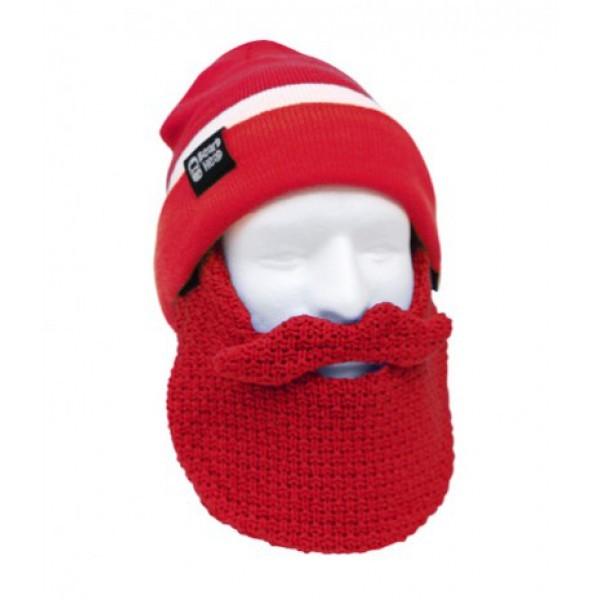 Шапка с бородой Tailgate-Classic, красно-белая