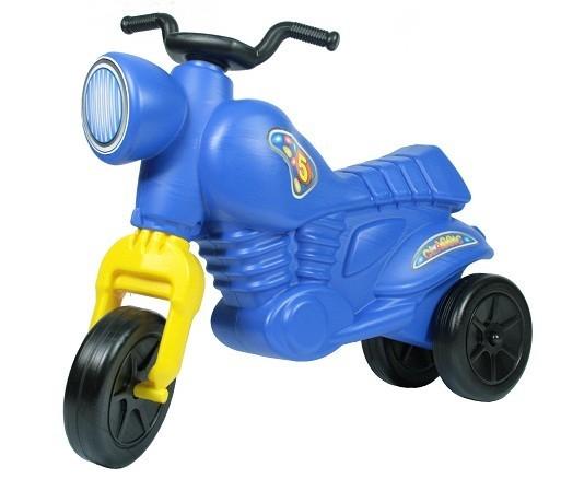 Синий детский мотоцикл-самокат Ретро-мот