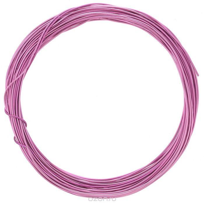 Проволока для рукоделия Астра, цвет: сиреневый (5), 1 мм х 10 м