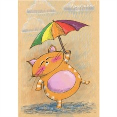 Открытка с конвертом Маркус и дождь