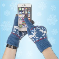 Синие сенсорные перчатки