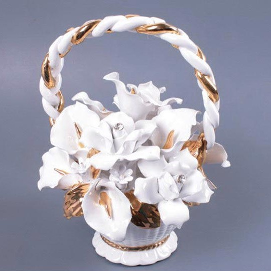 Декоративное изделие Корзина с цветами