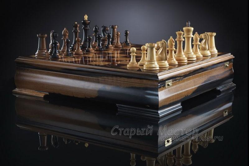 Шахматы «Стаунтон люкс» из макассара