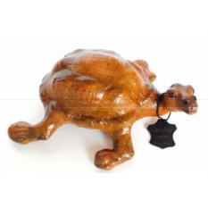 Статуэтка папье-маше из натуральной кожи Черепаха