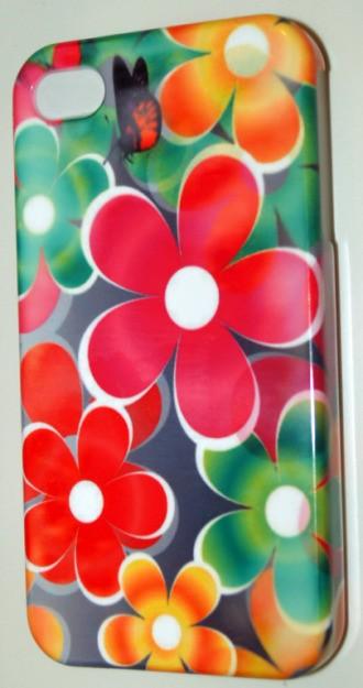 Пластиковая 3D накладка Flower для iphone 4/4S