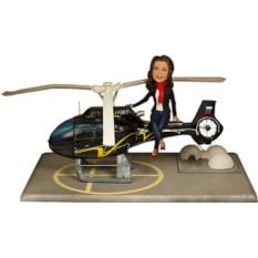 Подарок девушке по фото Вертолетчица 25 см