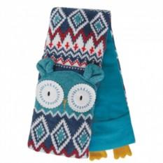 Вязаный шарф Owl с турмалином и лавандой