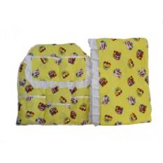 Бортик и карман с кружевом в детскую кроватку