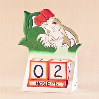 Календарь «Кролик под цветком»