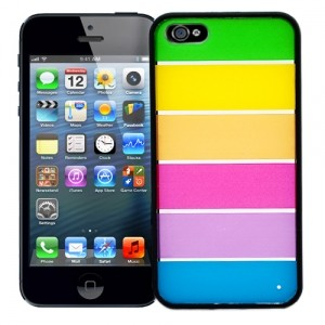 Чехол для iPhone 5 Strips with black