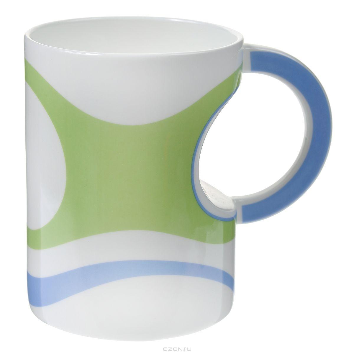 Кружка Карамба, цвет: зеленый, белый, голубой.