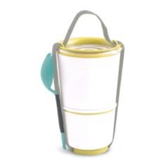 Желтый ланч-бокс для первого и второго Lunch Pot